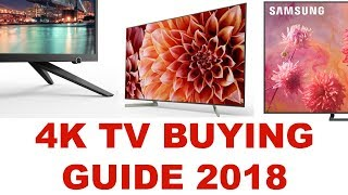 Best 4k HDR TVs buying guide of 2018