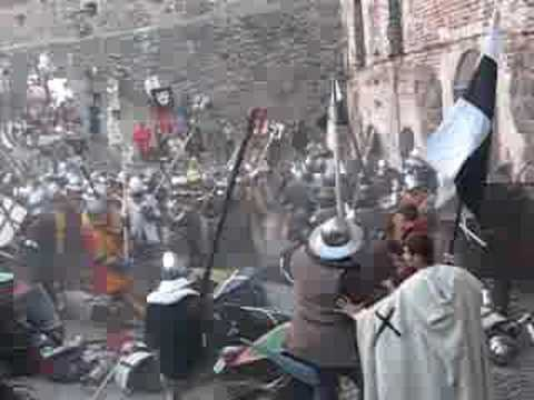 Vyborg castle medieval mass fight