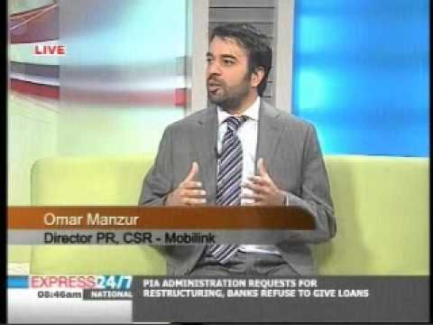 Director PR & CSR Mobilink on Express Morning Show (3/3)