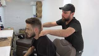 ASMR Turkish Barber FaceHead and Body Massage 176