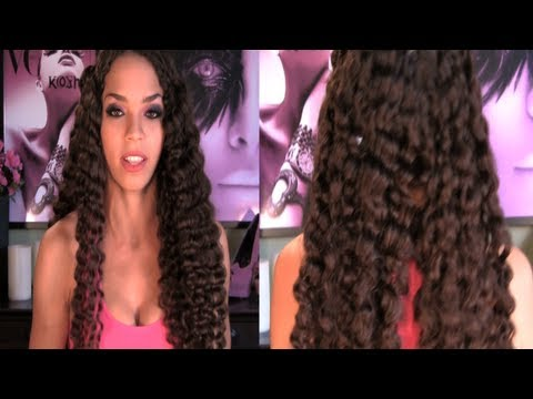 Natural Hair Tutorial - Beach Waves with No Heat, How to Grow Hair Longer
