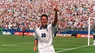 22 aprile 1989 - Il primo gol in azzurro di Roberto Baggio - Almanacchi Azzurri
