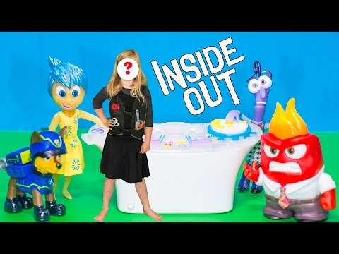 INSIDE OUT Meets the Secret Agent Assistant and Paw Patrol