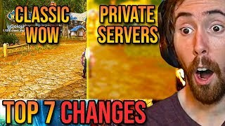 Asmongold Reacts To The Top 7 Changes In Classic WoW Compared To Private Servers - Punkrat
