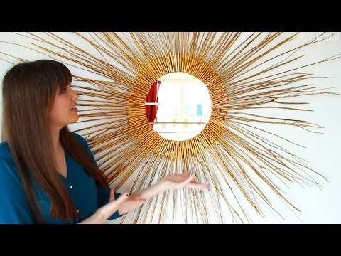Diy Starburst Mirror Home Decor Diywithjulia Youtube