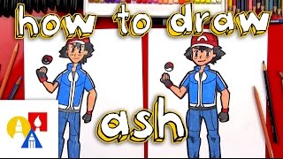 How To Draw Ash Ketchum From Pokemon