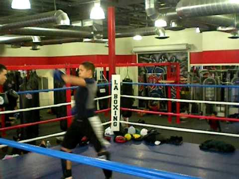 kick boxing sparring match Image 1