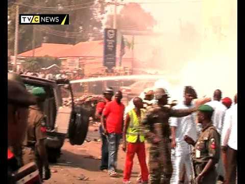 Former Nigerian leader Buhari targeted in Kaduna bomb blast