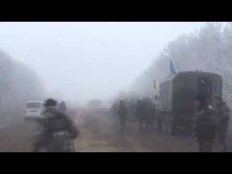 Ukrainian soldiers are playing football on the road in Debaltsevo. Ukraine news today