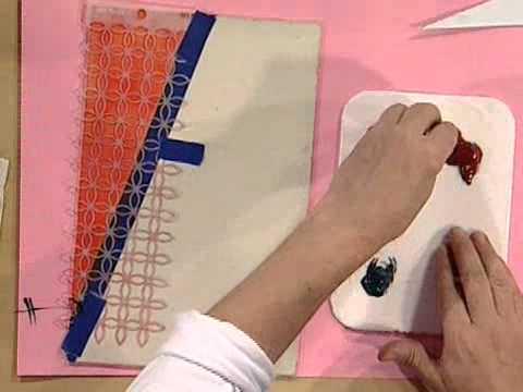 Como hacer una caja decorada stencil y estampado de - Como forrar una caja con tela ...
