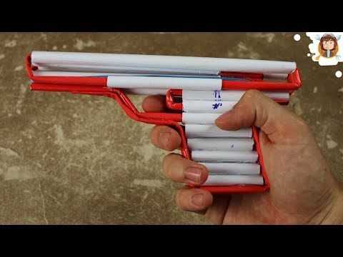 How to Make a Simple Airsoft Gun - (Paper Pistol)