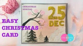 DIY Christmas Card/Handmade Christmas Greeting Card for kids / Christmas Craft for Kids