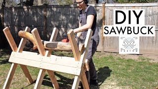 DIY Folding Sawbuck // Chainsaw // Cutting Firewood Safely // Quick Do it Yourself Project