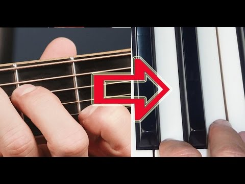 Play guitar music on the piano. How to translate guitar chords into keyboard chords