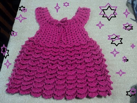Video - VESTIDO DE OLANES PARA NIÑA A GANCHILLO. PARTE 3 FINAL ...