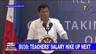 PRRD: Teachers' salary hike up next