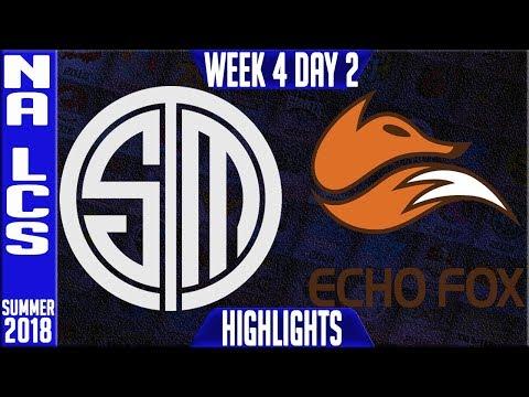 TSM vs FOX HIGHLIGHTS   NA LCS Summer 2018 Week 4 Day 5   Team Solomid vs Echo Fox