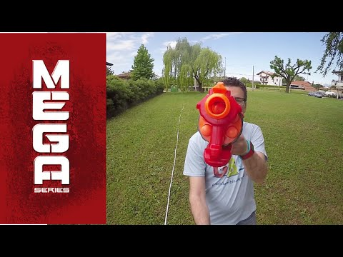 Nerf MEGA Cyclone ITA 2015 con tamburo rotante!
