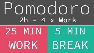(277. MB) Pomodoro Technique 4 x 25 min - Study Timer 2h Mp3