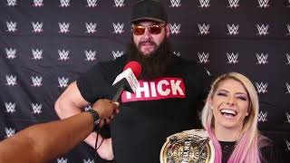 Chat w WWE Superstars Alexa Bliss and Braun Strowman on SummerSlam at Toronto's Scotiabank Arena