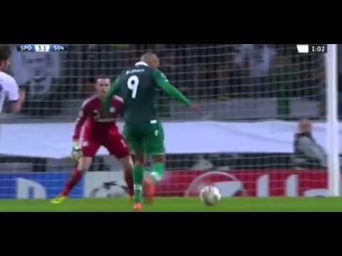 Islam Slimani Goal Sporting 4vs2 Schalke  Champions League  5-11-2014