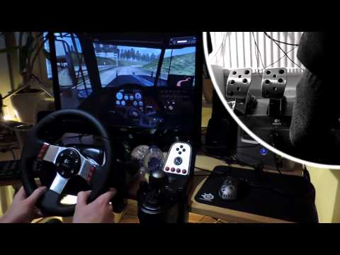Euro Truck Simulator 2 - V8 Peterbilt 1000HP Across Europe with Logitech G27 gameplay simulator. 1h