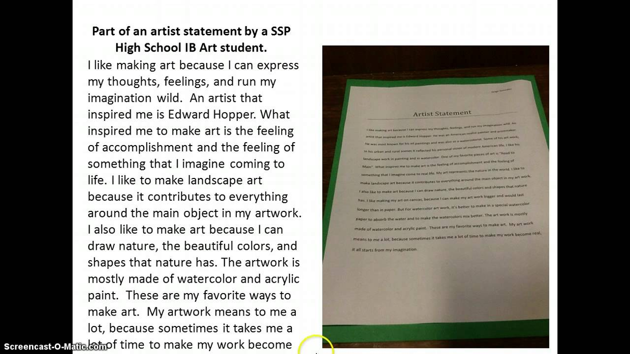 writing an artist statement photography How to create a press release for your art outlining how to write an artist's statement effectively distributing a press release for your art.