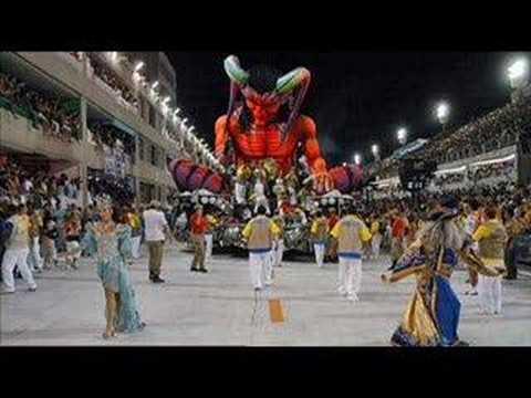 Deus humilha o diabo no carnaval. .