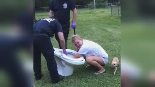 Woman Gets Rescued by Fire Department After Getting Hand Stuck in Toilet