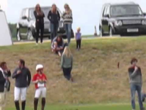Prince George Plays With Kate While His Dad Plays Polo