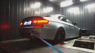 BMW M3 E92 4.0 V8 w/ Armytrix Axel-Back Valvetronic Exhaust on Dyno by Shiftech Lyon