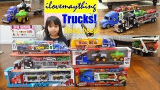 Semi-Hauler Toy Trucks. Car Carrier Trucks Playtime. Learn To Count and Learn Colors. Kids' TOYS