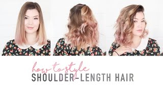 HOW TO STYLE SHOULDER LENGTH HAIR // flat iron tutorial