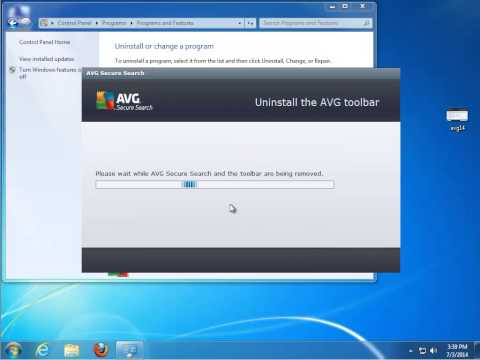 Uninstall AVG AntiVirus Free 2014
