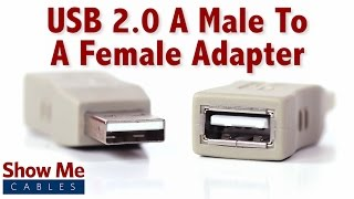 Easy To Use USB 2.0 A Male To A Female Adapter - The Perfect Port Saver #3503
