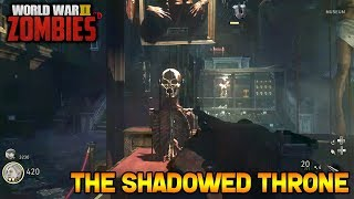 WW2 ZOMBIES - THE SHADOWED THRONE MAIN EASTER EGG HUNT!! (Call of Duty WW2 Zombies)