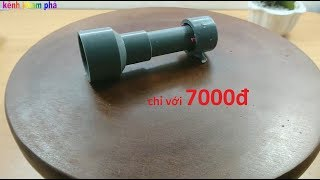 Hướng dẫn chế thiết bị chống mùi cho cống thoát nước chỉ với 7000đ