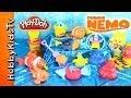 PLAY-DOH Nemo Surprise Toys! SpongeBob, Rio, Monsters U, Red Bird [Eggs], Madagascar, LPS