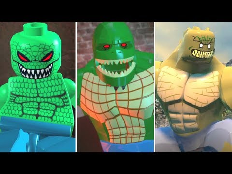 Evolution of Killer Croc Battles in LEGO Videogames