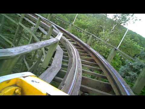 thunderbolt wooden roller coaster front seat pov onride kennywood pa how to save money and do. Black Bedroom Furniture Sets. Home Design Ideas