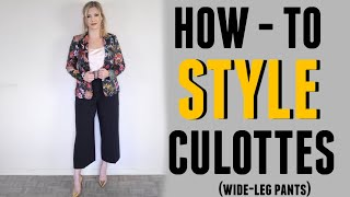 HOW TO STYLE CULOTTES: tips from a stylist