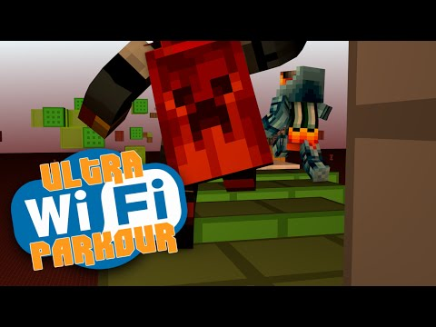 Minecraft 1.8 Parkour | ULTRA WIRELESS PARKOUR | Wireless is Hard :( (Minecraft Parkour)