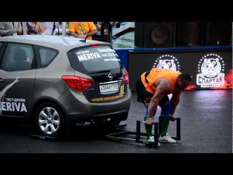 Михаил Кокляев становая тяга машиной Strongman Champions League