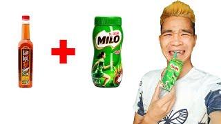 PHD | Trò Đùa Troll Uống Milo Nước Mắm | Prank