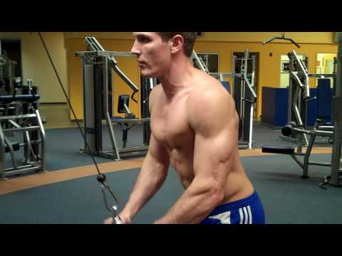 How To: Tricep Pushdown (Life Fitness Cable) Image 1