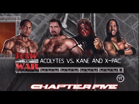 WWE'13: Attitude Era Mode - Off Script Ep.5: Acolytes vs. Kane & X-Pac