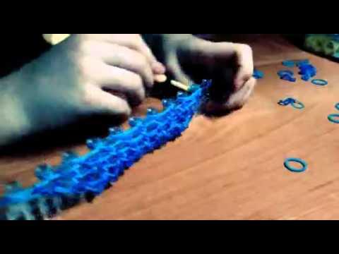 Плетения из резинок рыбья чешуя