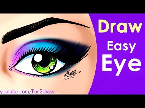 How to draw eye | Easy art tutorial | Mei Yu