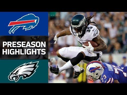 Bills Vs Eagles Nfl Preseason Week 2 Game Highlights