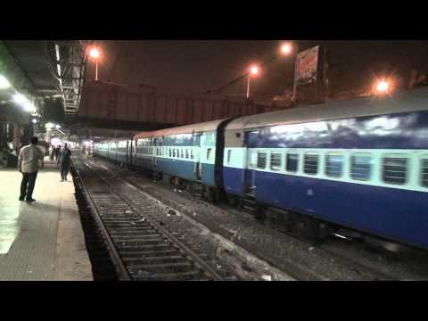 NIGHT CAPTURE OF LOCAL TRAIN SUPERB ACCELERATION & CROSSING...